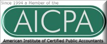 AICPA - American Institute of Certified Public Accountants - Don Fitch, CPA has been a proud member since 1994