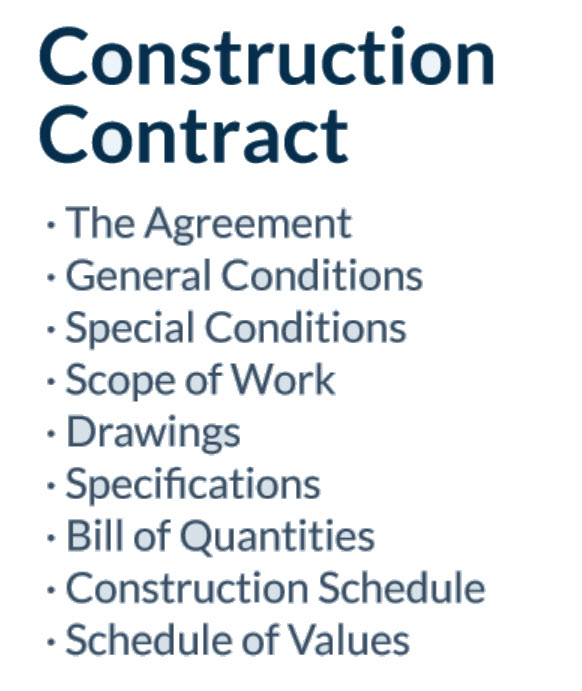 Terms of a Basic  Construction Contract