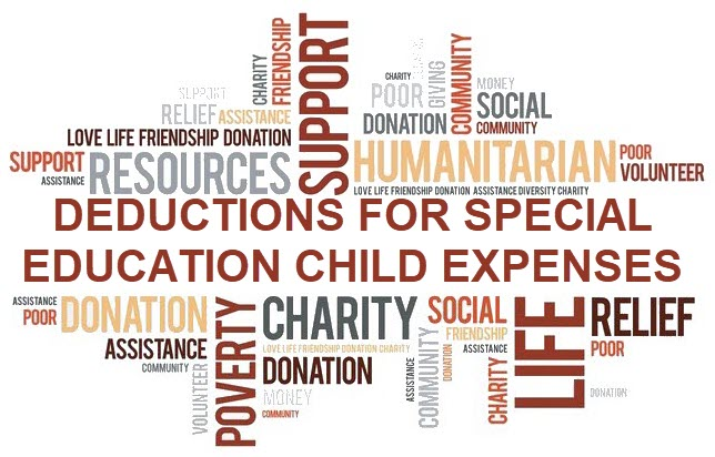 Deductions for Special Education Child Expenses