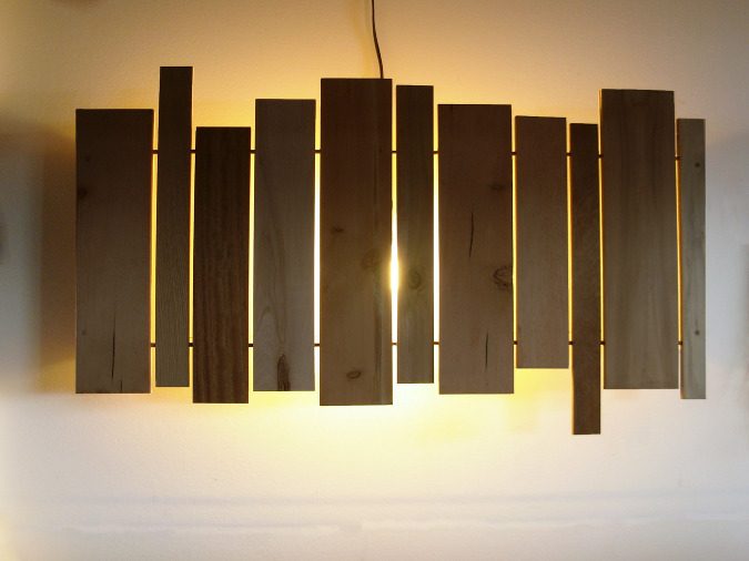 slats wall sconce - cantilever and press on Wood Wall Sconces id=69556