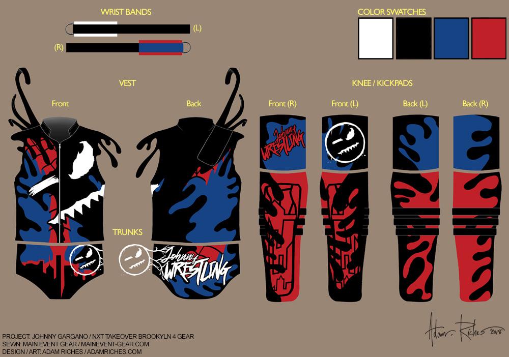 Wwe Ring Gear Costume Design Adam Riches