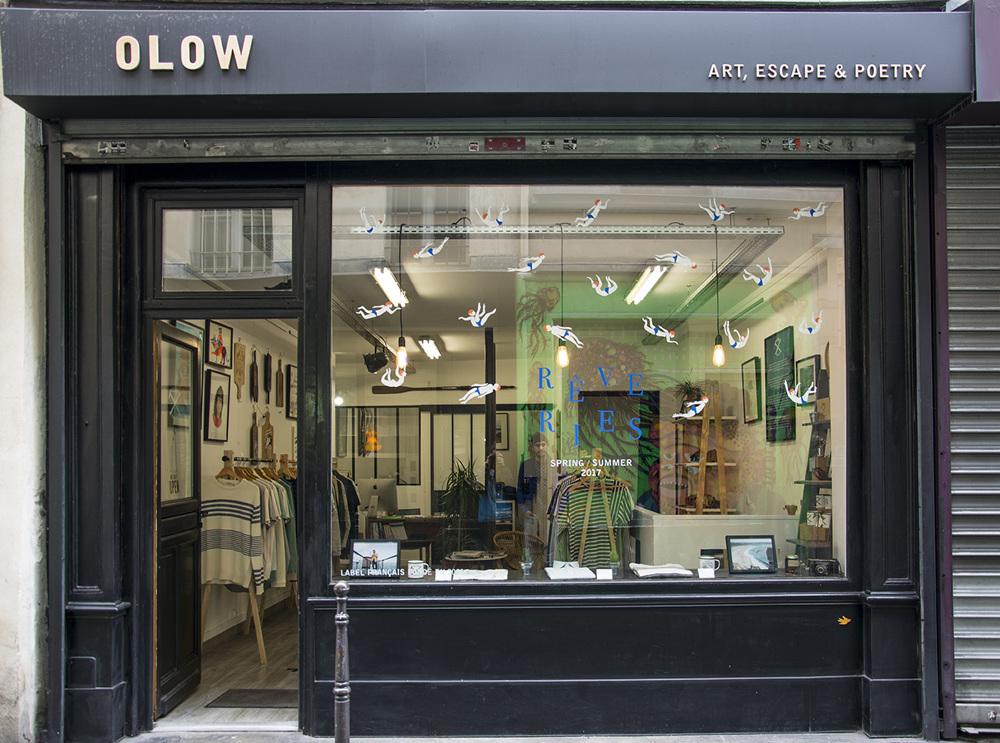vitrine boutique olow ss17 luez