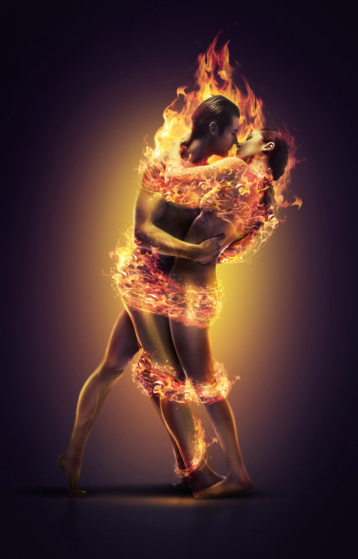 Image result for picture of man and woman in flames