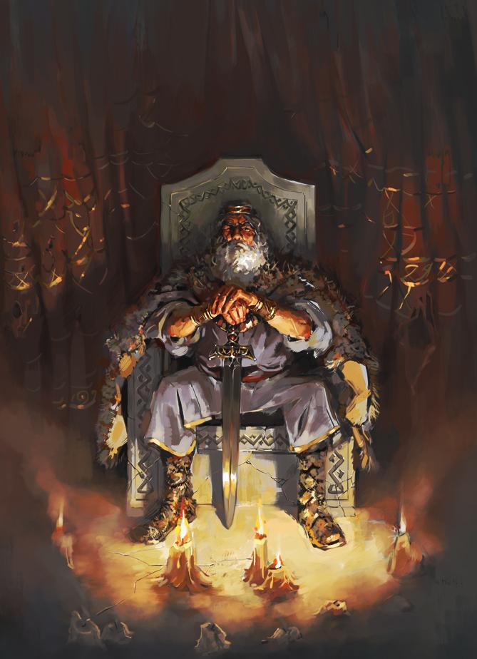 King Lear Oliver Cuthbertson Illustration