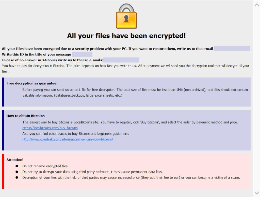 Case study: odzyskiwanie danych po ataku ransomware Dharma