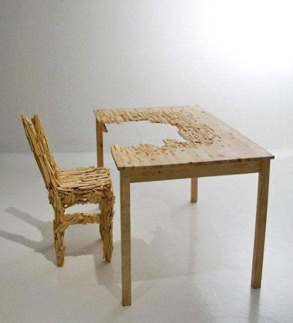 the%20table%20and%20the%20chair Reformed Objects by Adrien Petrucci in THISISPAPER MAGAZINE