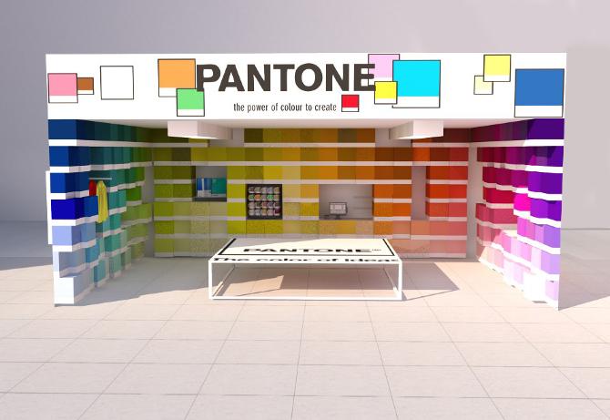 Pantone paint popup shop