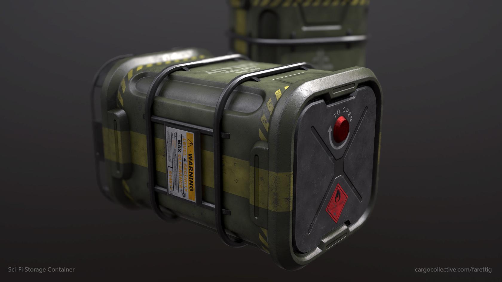 Sci Fi Storage Container Farettig