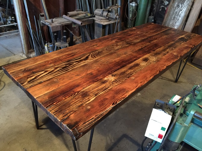 Reclaimed Old Growth Douglas Fir Dining Table Ambrose