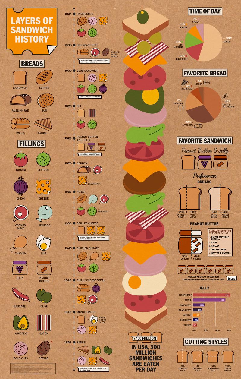 Sandwich Infographic Krystamelia