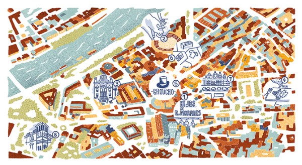 Brussels Airlines maps Antoine Corbineau Illustration