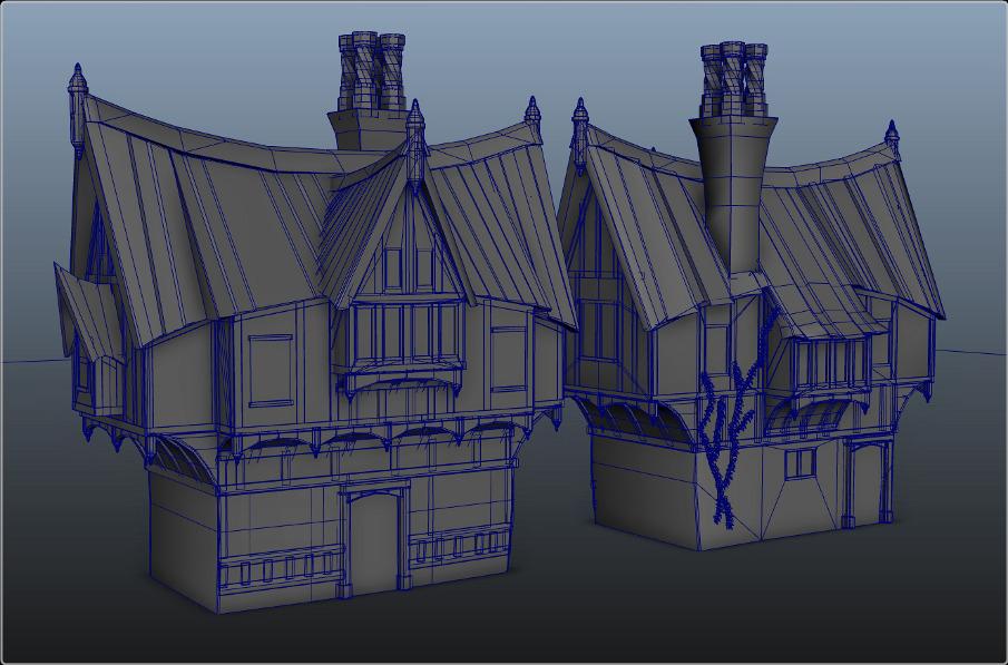 Stylized Tudor House Arctic Furnace