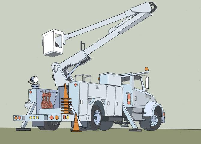 Trucks David Johnson Illustration