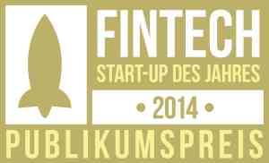 FinTech StartUp des Jahres 2014 - Publikumspreis
