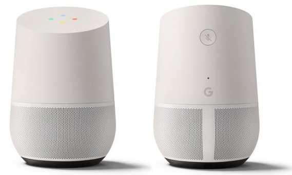 Google Home Vor- und Rückansicht