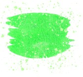 Green Watercolor brush strokes and translucent paint splatters.