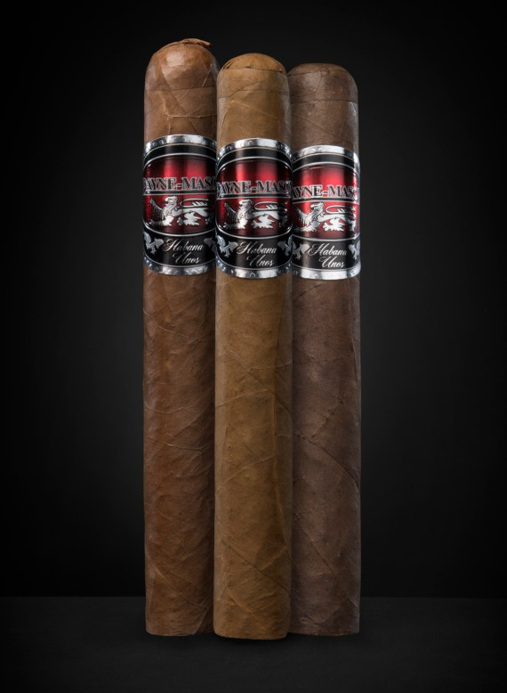 The PAYNE-MASON Habana Unos Cigar Combination includes the following cigars:  – Torito Lite– Corojo #5 – Torito Maduro
