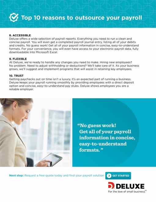 Infographic - Top 10 reasons to outsource your payroll
