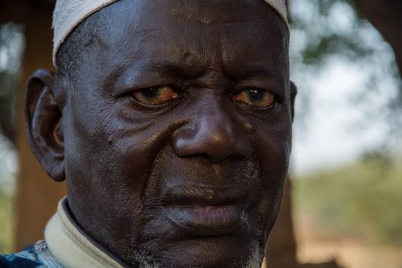 Maraîcher à Agnam Civol - près de Matam - Sénégal