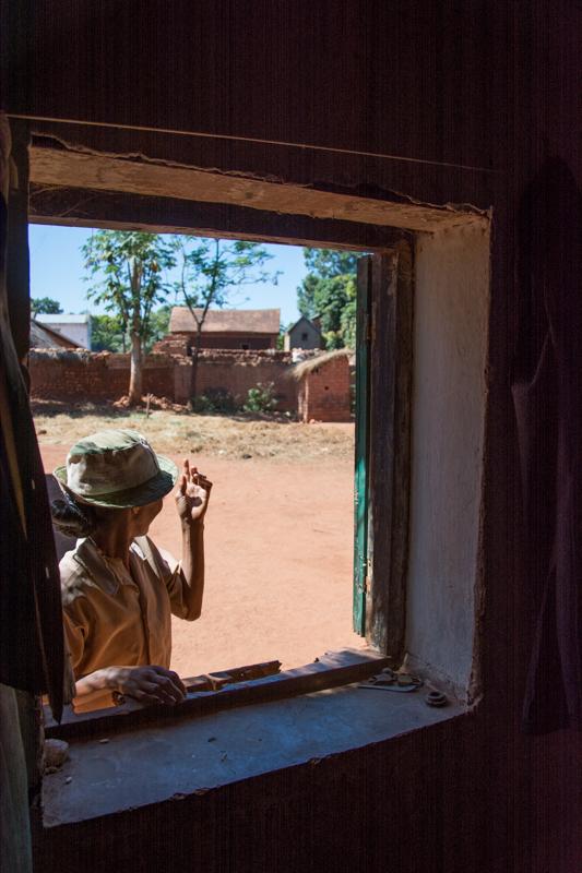 Vue de la fenêtre de la chambre familliale de Dasise