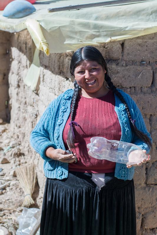 Agriculture urbaine à Sucre - une des bénéficiaire du projet ! - http://paysansdavenir.com/agriculture-urbaine-pourquoi-comment-lexemple-de-la-bolivie/