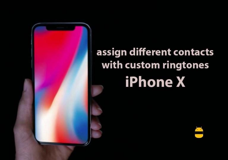 Как назначить разным контактам настраиваемые рингтоны на iPhone X