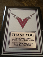 Thank You From Band/Color Guard