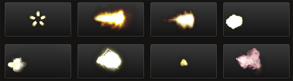 Free Action Elements: Muzzle Flashes
