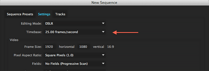 how to change frame rate of a sequence in premiere