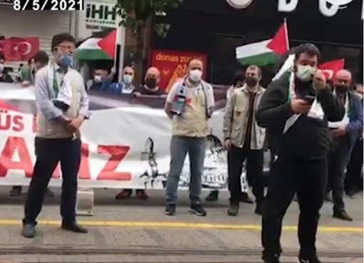 بالفيديو: وقفة تضامنية مع أهالي القدس والشيخ جراح في مدينة اسكي شهير بتركيا
