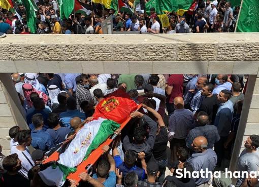 بالصور: شاهد جنازة الشهيد رشيد أبو عرة من بلدة عقابا قضاء طوباس