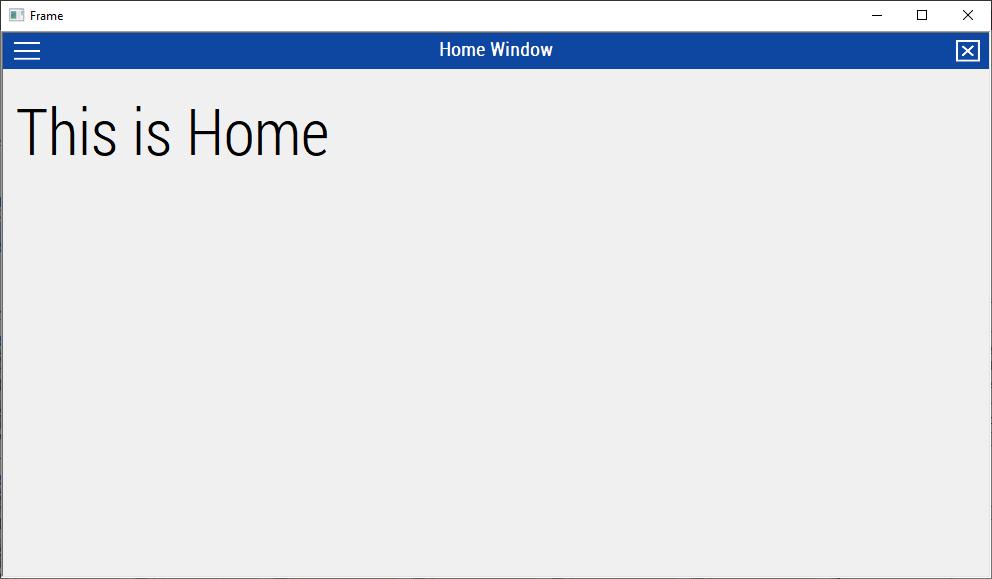 Membuat Sliding Window dengan MDI Frame