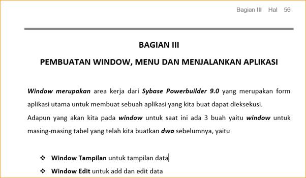 Pembuatan Window, Menu dan Menjalankan Aplikasi