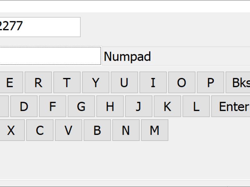 PB Touch screen keyboard
