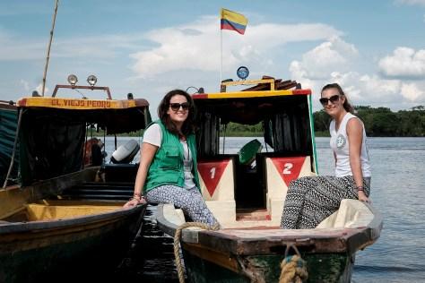 Brigadistas en el puerto de Barranca, foto de Caldwell Manners