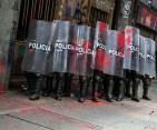 policía movimiento social