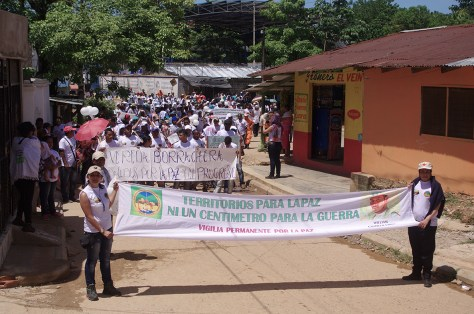March for Peace in the town of El Bagre, Antioquía