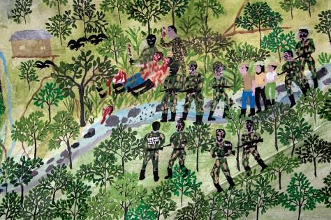 cuadro masacre Doña Brigida