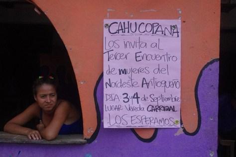 Cartel para promover el encuentro de mujeres en Nordeste Antioqueño_web