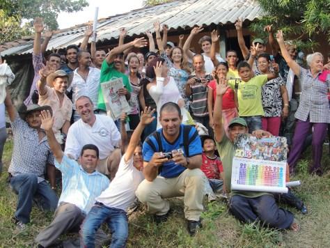 Viaje con Cahucopana al Bajo Cauca, enero de 2013
