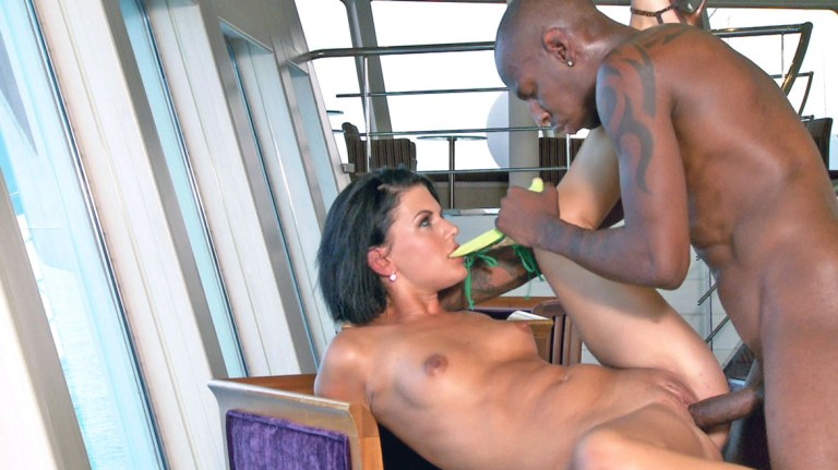 Hot Brunette Takes on the Captain
