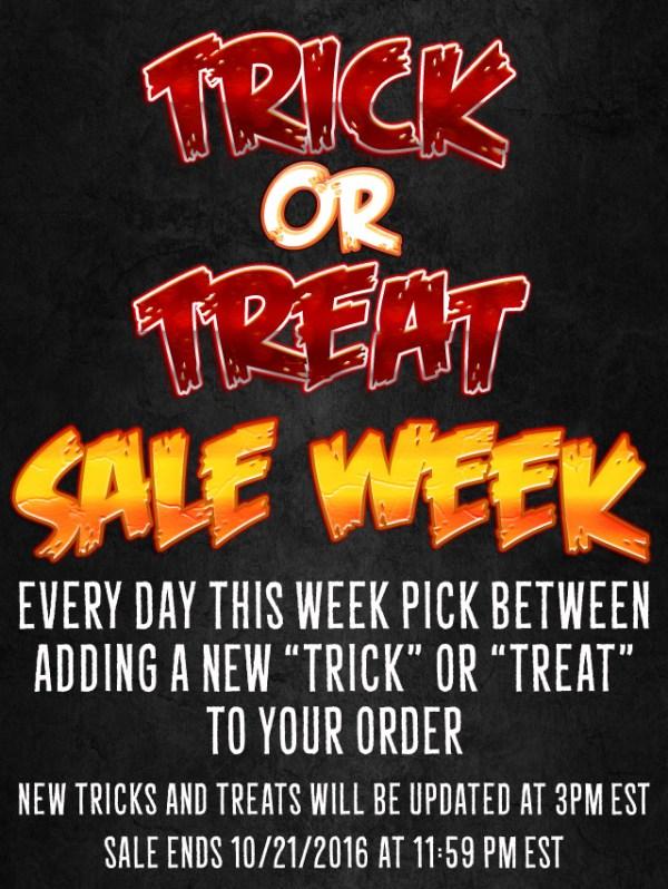 Trick or Treat Sale Week Suggestions