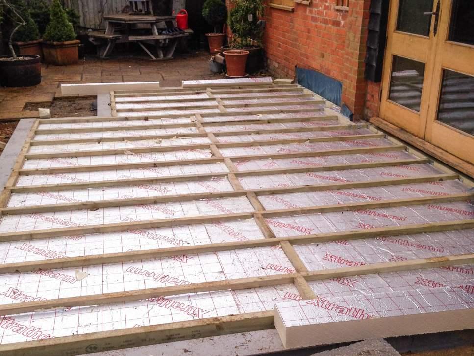 Sunroom Footings by Builders in Newbury