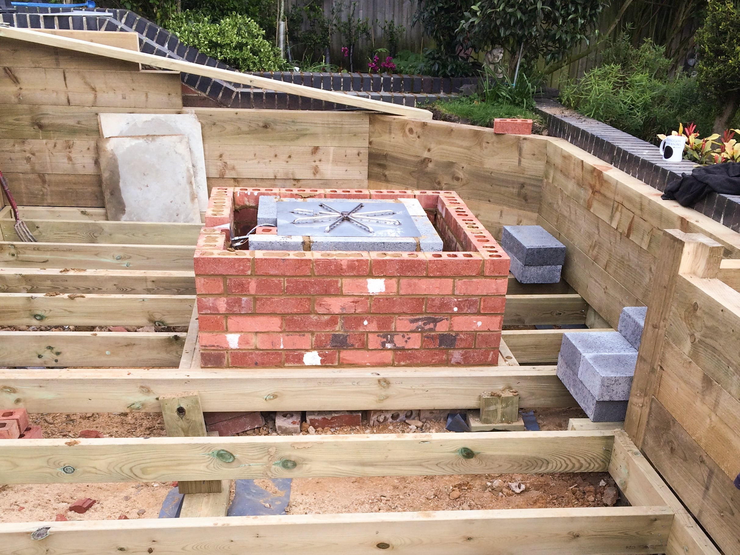 Fire Pit by Builders in Newbury