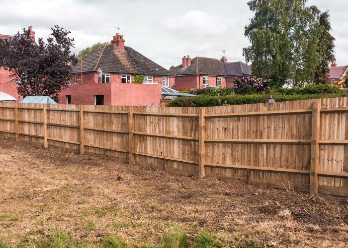 Garden Fence by Builders in Newbury