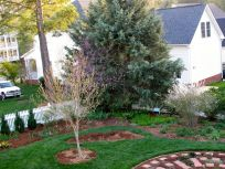 Garden View With Fresh Mulch-4