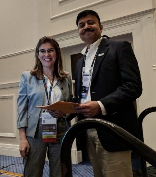 USCAP2019 PBPS Abstract Winner Dr.Bavi with Dr.Basturk