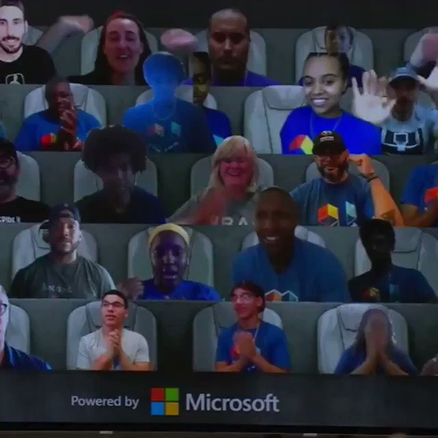 With Microsoft's technology, the fan experience has only gotten better. Will anyone ever beat the (literal) goat though? 🐐🏀