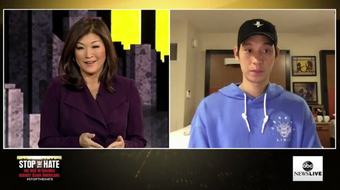 """I wanted to bring awareness towards...what's going on off the court.""  NBA player @JLin7 joins @JujuChangABC and @EvaPilgrim to discuss speaking out after being called a slur on the court and the rise in anti-Asian hate crimes. https://t.co/Ze9CS8383L"