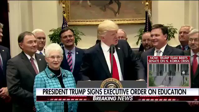 Today, I signed an Executive Order on Enforcing Statutory Prohibitions on Federal Control of Education. EO: https://t.co/cdgj53B3yo